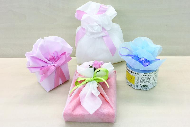 ラッピング講習会: 柔らか素材(不織布)で贈るラッピング
