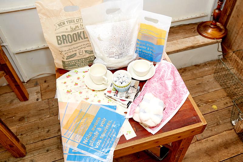 新商品インタビュー: かわいいデザインのレジ袋と手抜きカラーポリ袋をつくりました