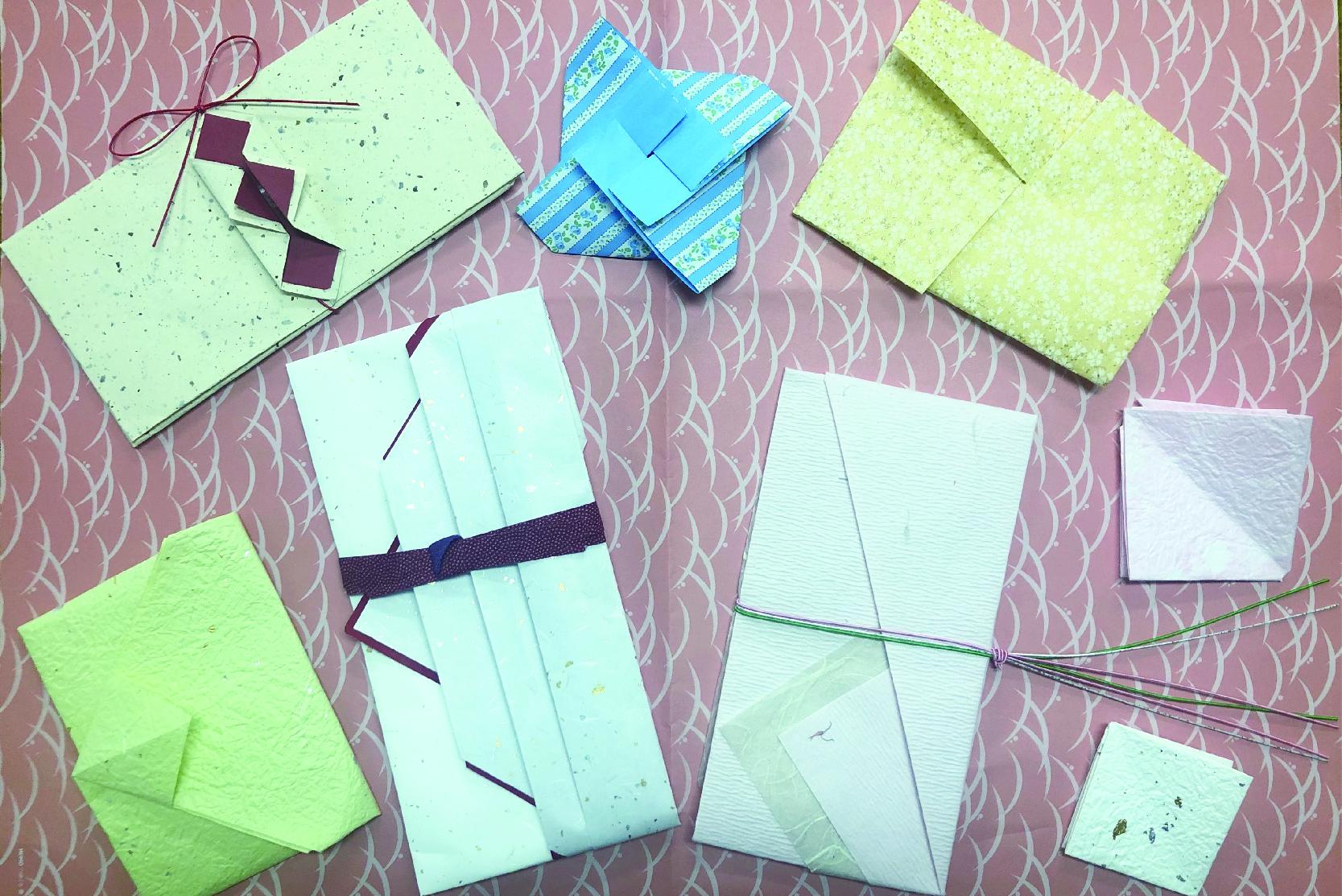ラッピング講習会: 和紙で作る祝儀袋